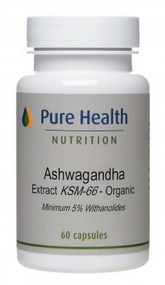 Organic Ashwagandha KSM-66 - 60 capsules
