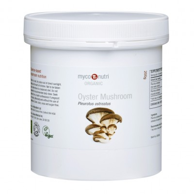 Organic MycoNutri Oyster Mushroom powder 200g (Pleurotus ostreatus)